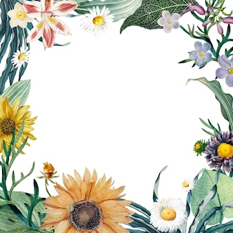 Fond de cadre floral