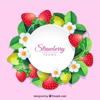 Fond de cadre de fraise