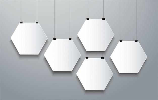 Fond de cadre hexagonal