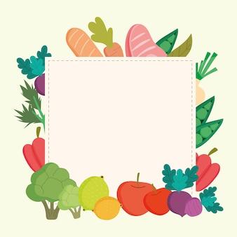 Fond de cadre de nourriture saine