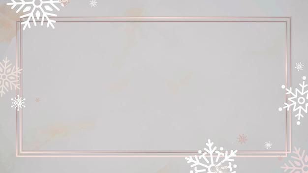 Fond de cadre rectangle doré