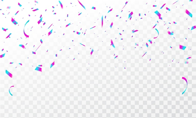 Fond de cadre avec des rubans de carnaval de célébration de confettis colorés