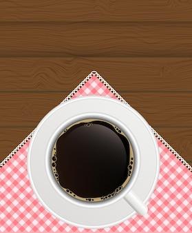 Fond de café noir. vecteur photo-réaliste