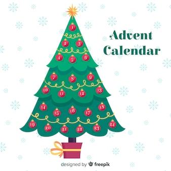 Fond de calendrier de l'avent arbre de noël