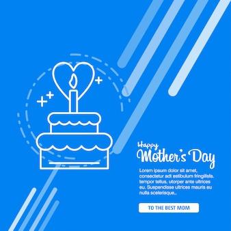 Fond de calligraphie de bonne fête des mères