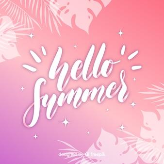 Fond calligraphique de l'été