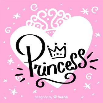 Fond calligraphique princesse