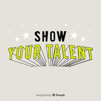 Fond calligraphique de recherche de talents
