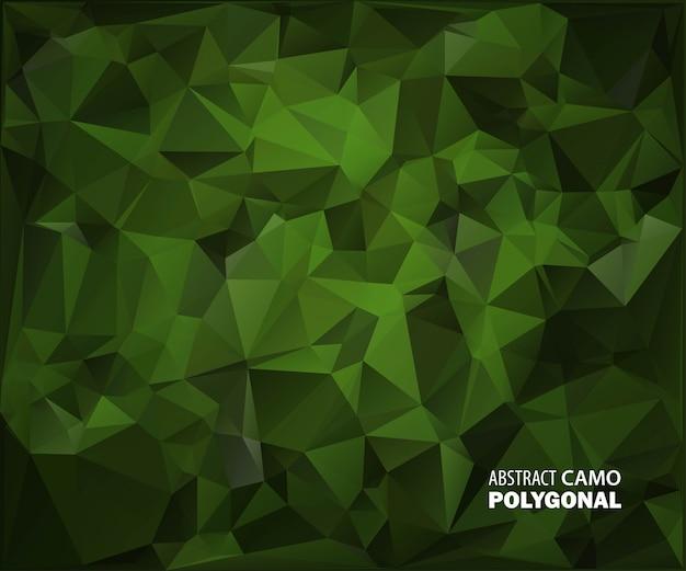 Fond de camouflage militaire abstrait composé de formes géométriques de triangles.