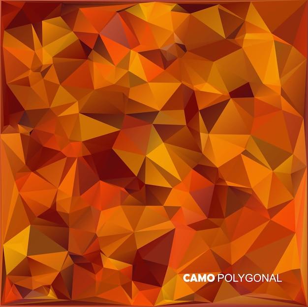 Fond de camouflage militaire abstrait fait de formes de triangles géométriques camo