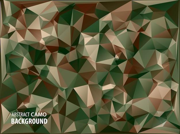 Fond de camouflage militaire abstrait fait de formes de triangles géométriques.