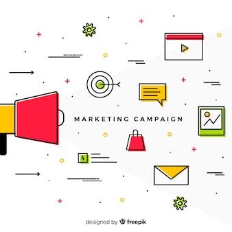 Fond de campagne de marketing linéaire