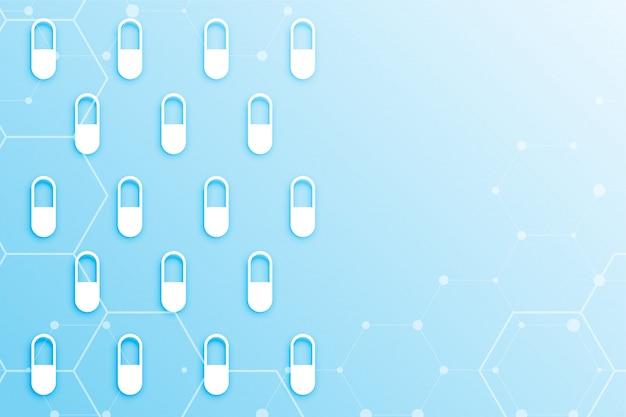 Fond de capsule de soins de santé mecial