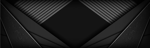Fond de carbone abstrait luxe noir