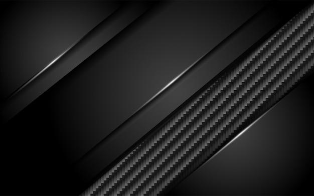 Fond de carbone sombre luxueux avec couche de chevauchement