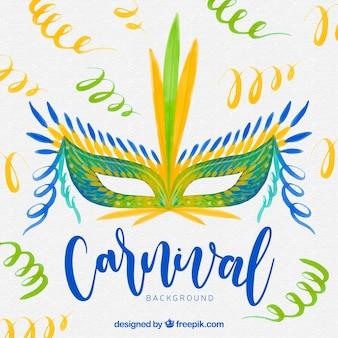 Fond de carnaval aquarelle