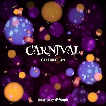 Fond de carnaval de bokeh