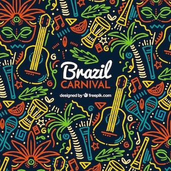 Fond de carnaval créatif coloré
