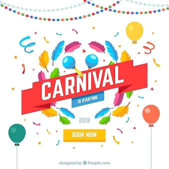 Fond de carnaval plat