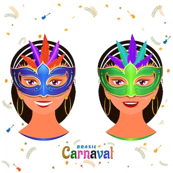 Fond de carnaval.