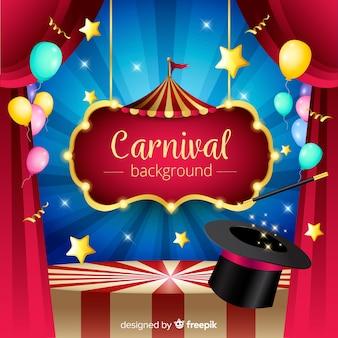 Fond De Carnaval Vecteur Premium