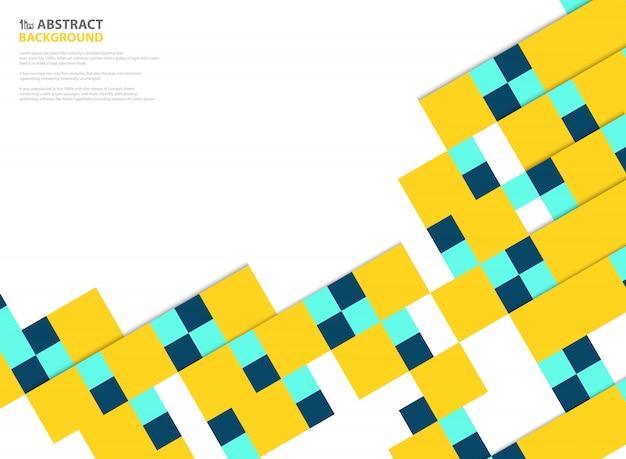Fond carré couleurs abstraites