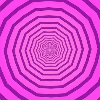 Fond carré géométrique créatif rose avec des cercles hypnotiques