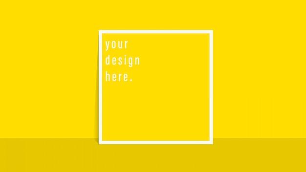 Fond carré jaune