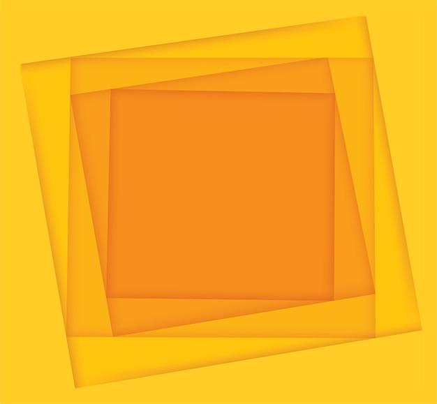 Fond carré de nuances jaunes