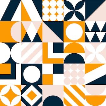 Fond de carreaux géométriques colorés.