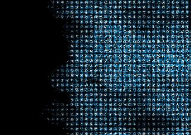 Fond de carrés techno abstraite