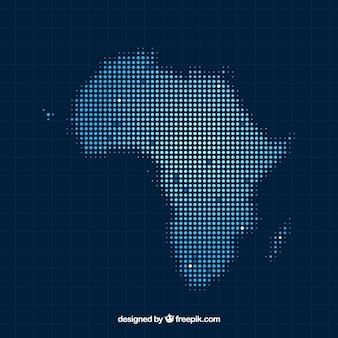 Fond de carte de l'afrique avec des points