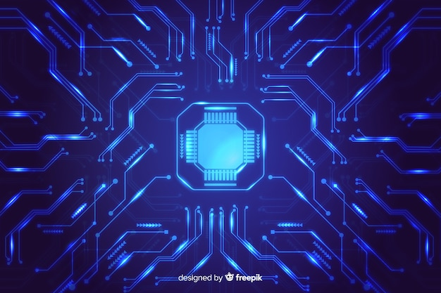 Fond de carte de circuit imprimé dégradé abstrait