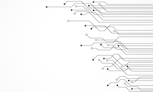 Fond de carte de circuit imprimé de technologie abstraite avec espace vide