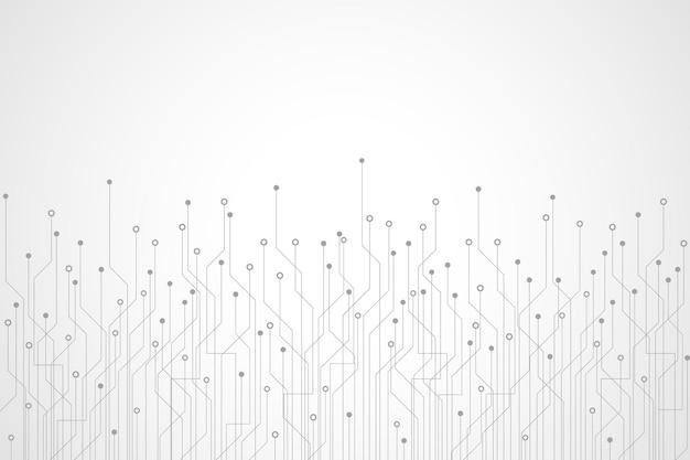 Fond de carte de circuit imprimé de technologie abstraite