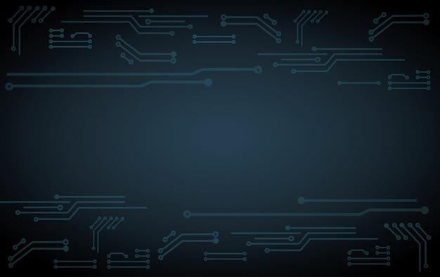 Fond de carte de circuit imprimé technologie abstraite