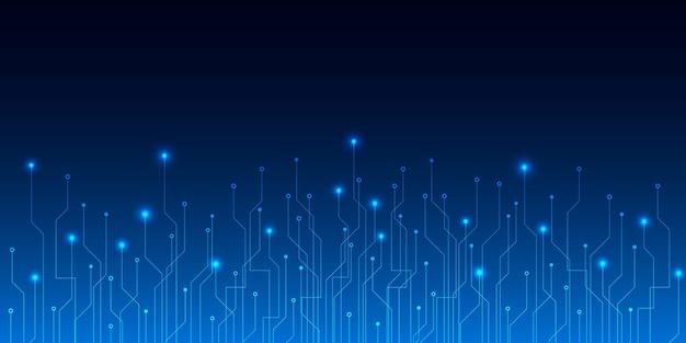 Fond de carte de circuit imprimé technologie bleu abstrait