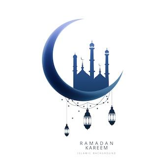 Fond de carte créative moom ramadan kareem