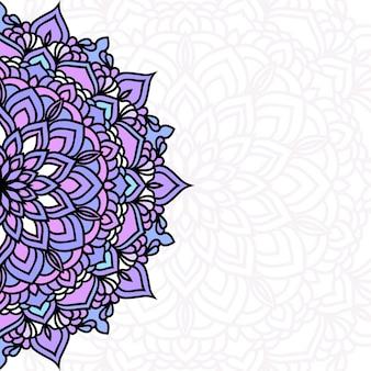 Fond de carte de dentelle ethnique ornementale orientale dessinée à la main pour la conception de t-shirt, carte vintage, invitation à une fête, affiche de yoga, foulard de mode, écharpe, brochures, album cadeau, scrapbook, etc.