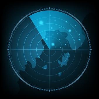 Fond de carte écran radar abstraite