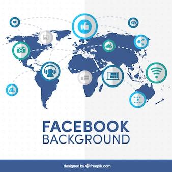 Fond la carte facebook