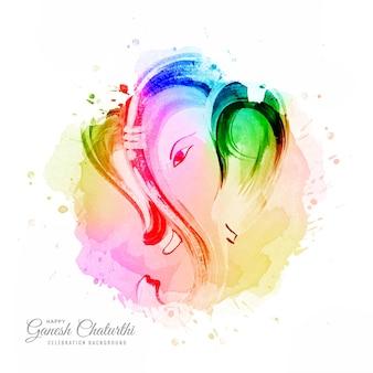 Fond de carte de festival artistique moderne heureux ganesh chaturthi