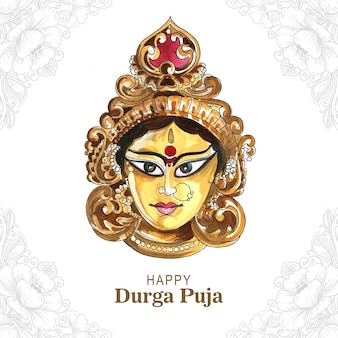 Fond de carte de festival indien heureux durga pooja