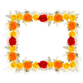 Fond de carte d'invitation de mariage floral coloré décoratif