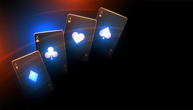 Fond de carte à jouer de casino noir