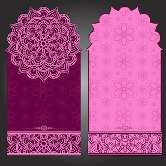 Fond de carte de mariage violet