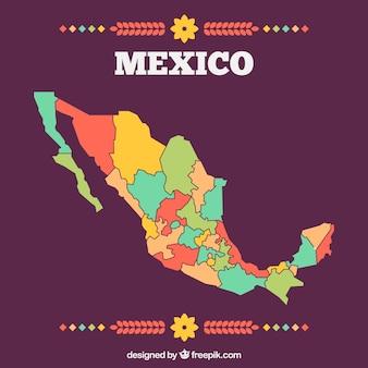 Fond de carte plat mexique