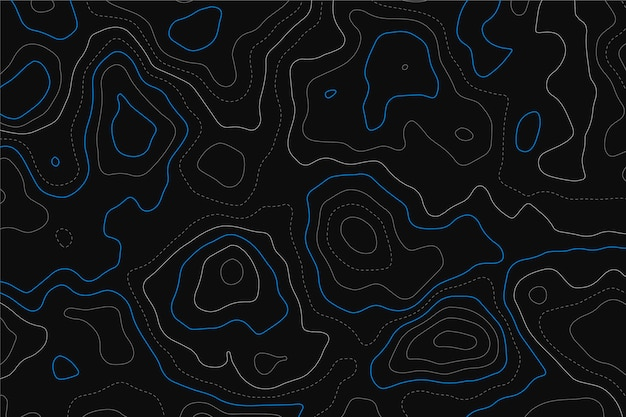 Fond avec carte topographique