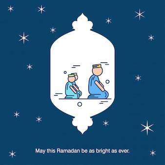 Fond de carte de voeux ramadan kareem vector