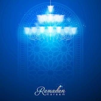 Fond de carte de voeux ramadan kareem